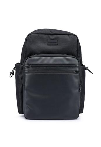 Calvin Klein black Square Backpack 45 - Calvin Klein Jeans Accessories B0731ACBC2E068GS_1