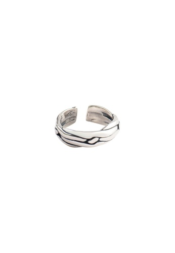 OrBeing white Premium S925 Sliver Geometric Ring EC50CAC015778EGS_1