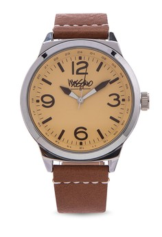 Ernest Leather Strap Analog Watch