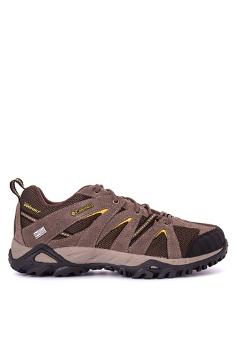 Columbia brown Grand Canyon Outdry Men's Shoes 14865SHBCF8FB6GS_1