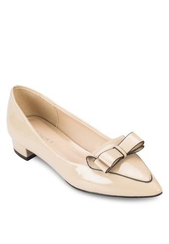 蝴蝶結漆皮樂福鞋, 女zalora 評價鞋, 鞋