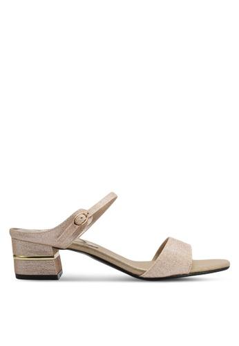 Spiffy gold Trendy Slip On Block Heels SP352SH0SRXJMY_1