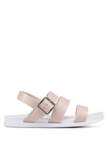 Rubi pink Luca Triple Strap Jelly Sandals 5C876SH0E2604BGS_1