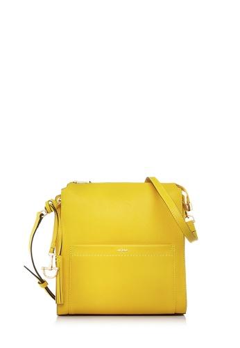 BONIA yellow Yellow Crocuet Crossbody Bag M EEE64ACD6EFBA5GS_1