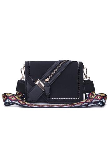 Zafiti black Modern Ethnic Style Cross Body Hand Carry Bag 4E3AFAC5B8B318GS_1