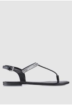 0dcf2aeec990 Guess black Select T-Bar Sandals 65580SH154BED9GS 1
