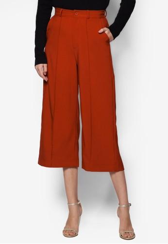 Delia esprit 香港寬管七分褲, 服飾, 知性女強人