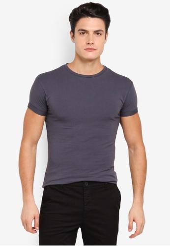 Topman 灰色 Ultra T-Shirt TO413AA0T1NOMY_1