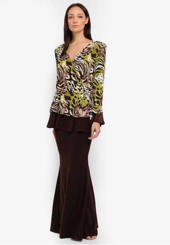 Zuco Fashion yellow Dress Peplum W Kimono Style Top E0B49AAD2741EBGS_1