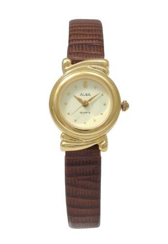 Alba brown ALBA Jam Tangan Wanita - Brown Gold - Leather Strap - ATQL88  10034AC862BC15GS_1