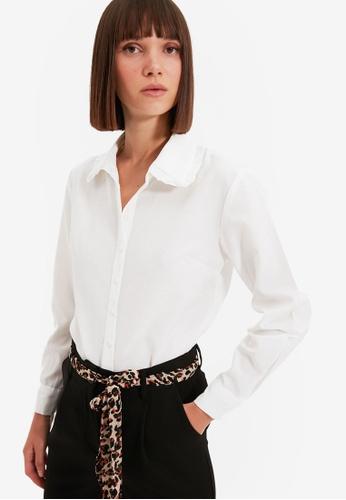Trendyol white White Shirt EF2BEAA2B4515CGS_1