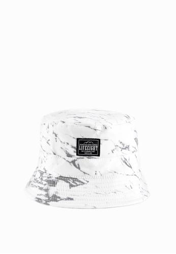 Life8 white Casual Marble Pattern Bucket Hat-05287-White LI283AC0GNTISG_1