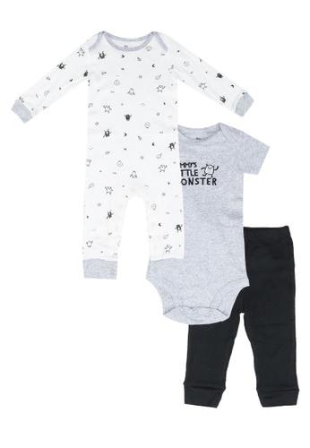 Milliot & Co. black Ariana Boys Newborn Bodysuits Set 20184KA244864DGS_1