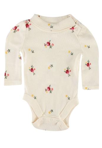 GAP white Rib Floral Printed Bodysuit 33EC8KAC522EC3GS_1