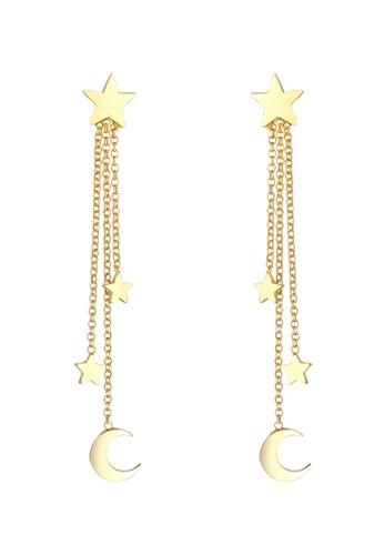 ELLI GERMANY gold Stars Crescent Gold Dangle Earrings 80D2AAC4D47B57GS_1