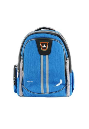 Swan blue Swan Bag New Design Ergolite Ergonomic Spinal Protection Children Back Support Spacious School Bag Very Light Kids Bag-Blue 15583KC815EDD9GS_1