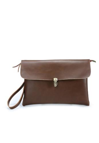 Lara brown Men's Hand Bag With A Cross Body Strap - Brown 18BB6AC4900198GS_1