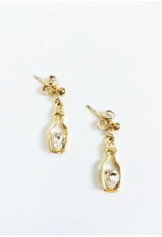 Bottle Drop Earrings with Swarovski Crystal