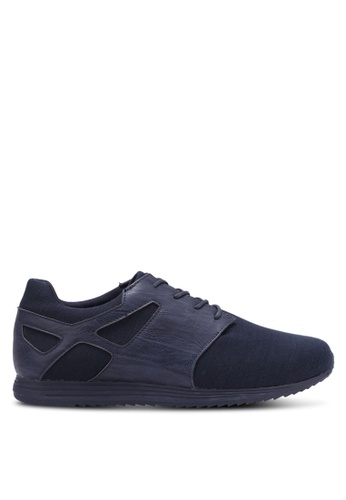 ZALORA blue and navy Mixed Materials Trainers CF3ABSH590D900GS_1