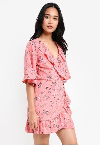 TOPSHOP pink Off Duty Ruffle Tea Dress F490AAA2253DCAGS_1