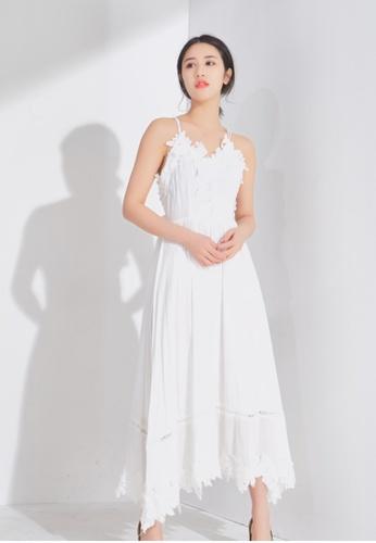 Zafiti white Halter Dress AF1DEAA74572E7GS_1