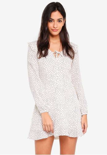 Something Borrowed white Wrap Fit And Flare Dress A5094AA911FDDEGS_1