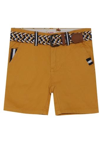 DU PAREIL AU MÊME (DPAM) yellow Belted Bermuda Shorts 98A2EKAC819AB1GS_1