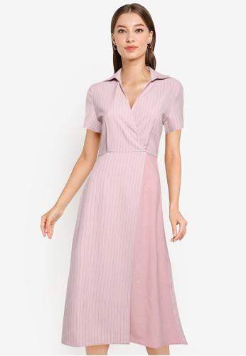 ZALORA WORK multi Contrast Fabric Dress 9A91BAA261170EGS_1