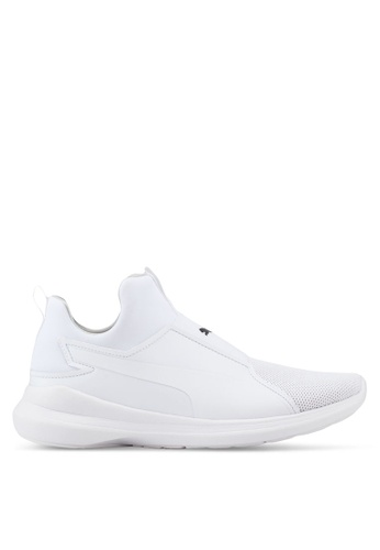 Puma white Sportstyle Core Puma Rebel Mid Core Shoes FA736SHF0EA1B1GS_1