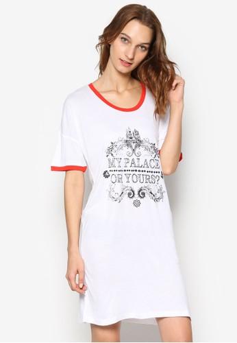 文字訊息esprit tw滾邊睡裙, 服飾, 服飾