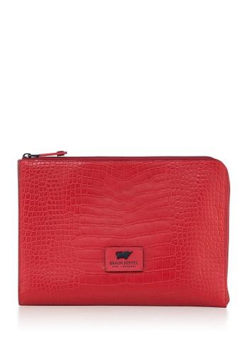 Braun Buffel red Mastermind Large Clutch Bag C43E0ACB63479EGS_1