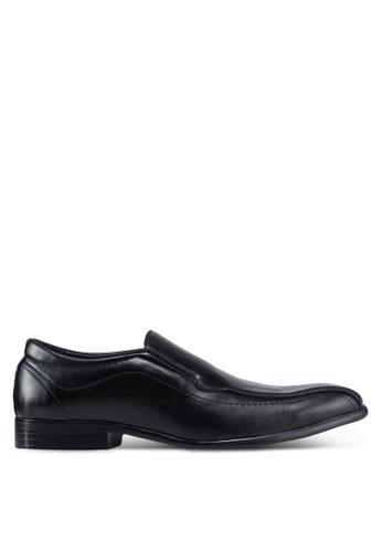 UniqTee black Slip on Formal Shoes with Stitch B0948SH5E5FEE9GS_1
