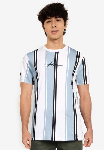 Hollister blue Pattern Tech T-Shirt F3DEBAA20E8A1BGS_1
