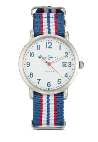 R2351105512 Charlie 條紋尼龍女士圓錶, 錶類, 飾品zalora 心得配件