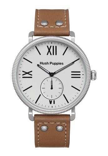 Hush Puppies Watches brown Hush Puppies 1958 Men's Watch HP 3853M.2501 White Brown Leather HU334AC0UHKBID_1