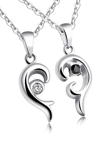 Trendyshop silver Couple Pendant Necklace Set TR116AC2VP64HK_1