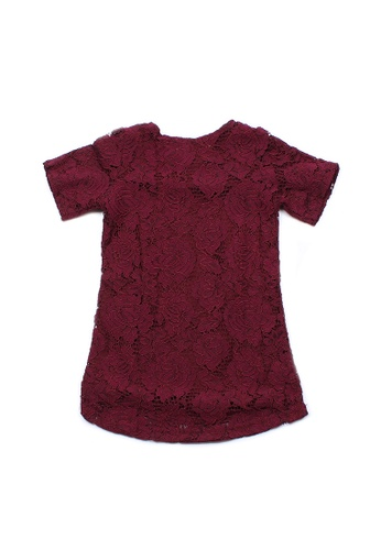 Mini Moley red Floral Lace Girl's Shift Dress 91CFFKA395AE18GS_1