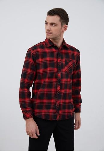 Berrybenka Label red Jordy Flannel Shirt Red 5332DAA7F1E373GS_1