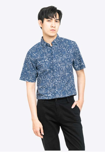 FOREST navy Forest Woven Floral Shirt - 621122-33Navy 1E370AA052A7C8GS_1