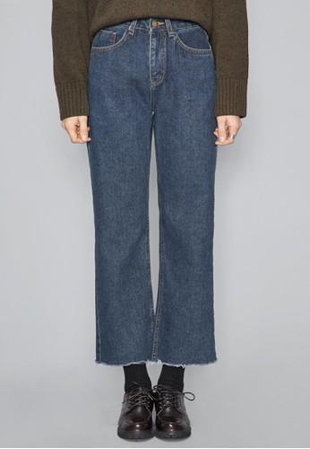 深藍微喇牛仔褲esprit手錶專櫃, 服飾, 多色牛仔褲