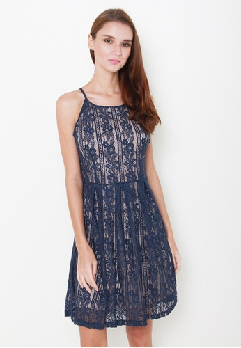 Leline Style blue Hazel Lace Dress LE802AA53IQOSG_1