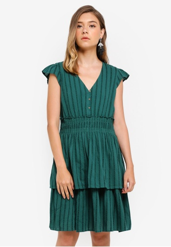 ESPRIT green Light Woven Mini Dress D1675AA193E563GS_1