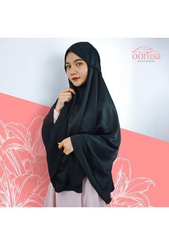 Oonisa Muslimwear black OONISA HIJAB BERGO INSTAN JUMBO POLOS - HITAM E6F48AA7EC1109GS_1