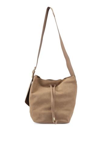 Mango beige Leather Cross Body Bag B0CB9AC22A8B8FGS_1