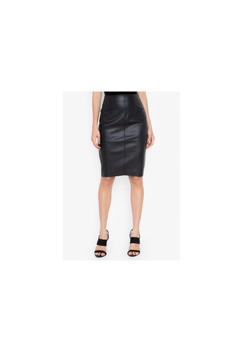 Shop Twenteen Back Zip Leather Midi Skirt Online on ZALORA Philippines 13cba1dac