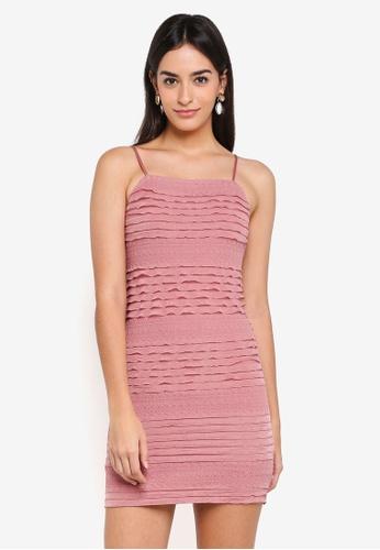 Miss Selfridge pink Pink Cami Ruffle Mini Dress 290C0AACBF195CGS_1