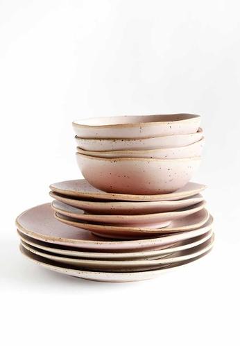 KRA Sanctuary pink Sii Chompuu Dinnerware Set of 6 62C2CHLD9144E3GS_1