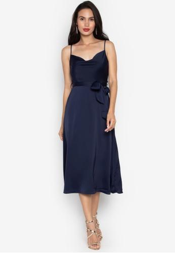5da1db53f80a Shop WAREHOUSE Cowl Neck Dress Online on ZALORA Philippines