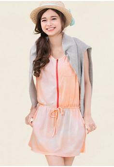 [IMPORTED] Rainbow Paradise Color Pop Dress - Pink