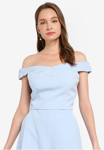 Miss Selfridge blue Blue Bardot Bralet Top BD3E6AAF9AFFC4GS_1